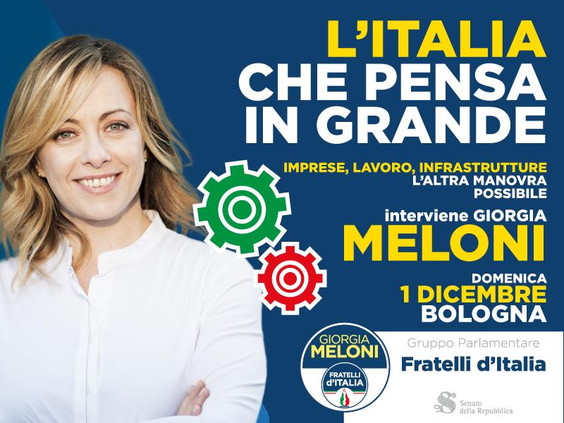 1 dicembre FdI Senato presenta a Bologna