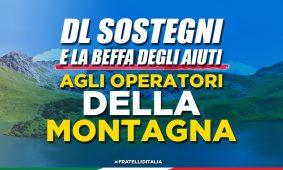 Dl Sostegni e la beffa degli aiuti agli operatori della Montagna