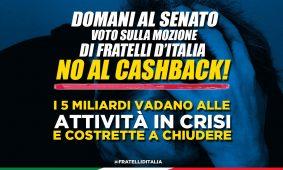 No al cashback! I 5 miliardi vadano alle attività in crisi e costrette a chiudere